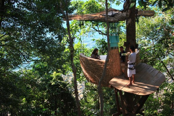 Tree top restaurant in Soneva Kiri Thailand