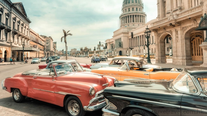 Havana, Cuba, Luxe Travel, vintage car, Grand Hotel Manzana Kempinski,Iberostar Grand Packard, SO/ Havana Paseo del Prado, luxury travel