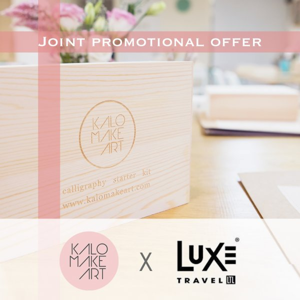 Luxe bonus Amenity Kalo Make Art Calligraphy (flight ∙ hotel ∙ package ∙ cruise ∙ private tour ∙ business ∙ M.I.C.E ∙ Luxe Travel ∙ Luxury travel  ∙ Luxury holiday  ∙ Luxe Tour  ∙ 特色尊貴包團 ∙  商務旅遊 ∙  自由行套票 ∙滑雪  ∙ 溫泉 ∙ 品味假期 ∙ 品味遊)