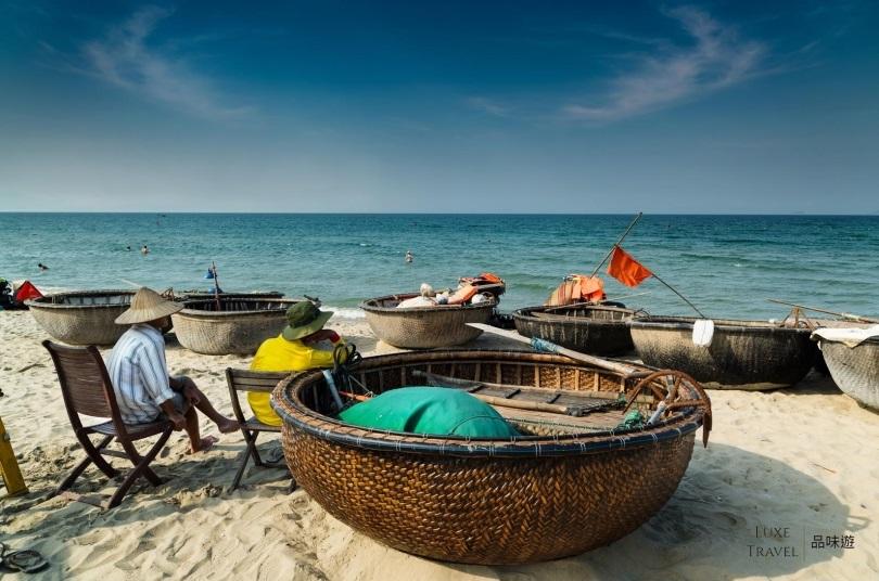 越南特有的「簸箕船」